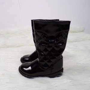 NINA Toddler Girls Quilted Patent Leather Boots 7